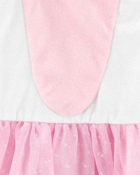 Платье для девочки Carters Единорог, р. 98-110 см Белое с розовым