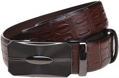 Мужской ремень кожаный Sergio Torri 10-022 110 см Коричневый (2000000016610)