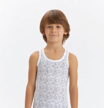 Майка для мальчика Baykar 2182, белая, Турция