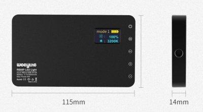 Накамерный LED RGB осветитель VILTROX Weeylife RB08P с аккумулятором 3000 mAh, накамерный свет