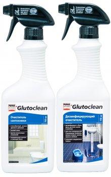 Акційний комплект для ванної кімнати Glutoclean Очисник для сантехніки 0.75 л + Дезінфікувальний очисник 0.75 л (4002175998782)