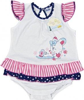 Боди-платье ЛяЛя 8Т010 (2-24) Белое