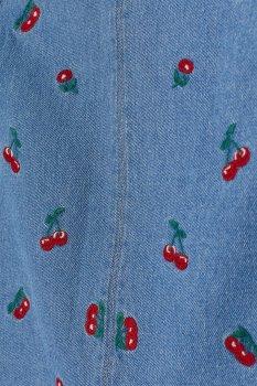 Спідниця джинсова H&M 76636905 Блакитна з малюнком