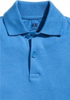 Поло H&M 2650695 Синее