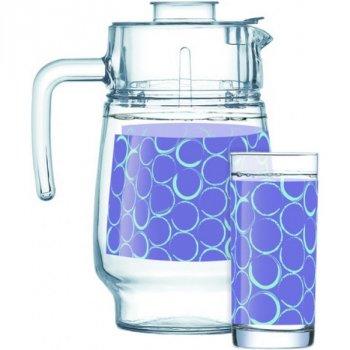 Набор питьевой из стекла 7 предметов Amsterdam Soffici Purple Luminarc