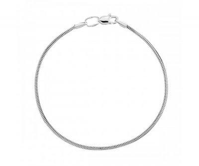 Браслет серебряный мягкий Снэйк размер 16 41511
