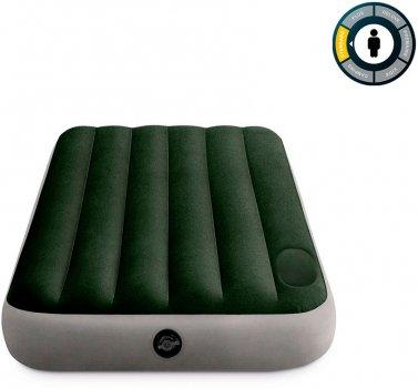 Надувной матрас Intex Downy Airbed 76 х 191 х 25 см Зеленый (64760)