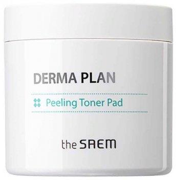 Тонизирующие пилинг-диски The Saem Derma Plan Peeling Toner Pad 70 шт (8806164159354)