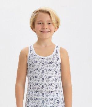 Майка для мальчика Baykar 2578, белая, Турция, размер