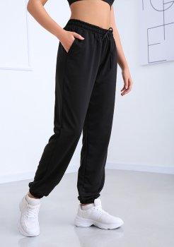 """Спортивні штани з високою талією Fashion Girl """"Matrix"""" чорний"""