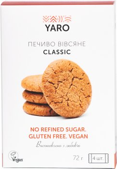 Печенье Yaro Classic Овсяное 18 г х 4 шт (4820230430912)
