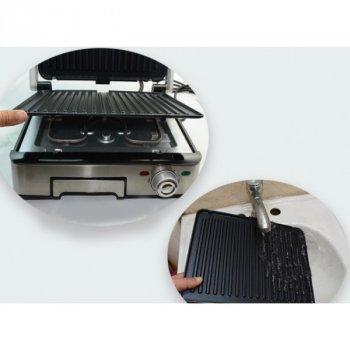 Контактний електричний гриль DSP KB 1045 зйомні антипригарні пластини 1800 Вт