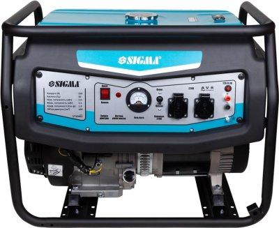 Генератор бензиновый Sigma 5.0/5.5кВт 4-х тактный, ручной запуск (5710461)