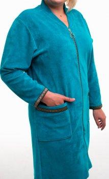 Халат женский Bonita ТМ Бонита, велюровый, бирюзовый (Н056)