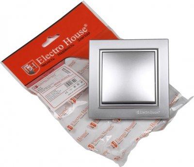 1-клавишный выключатель Electro House Серебряный камень (EH-2181-ST)