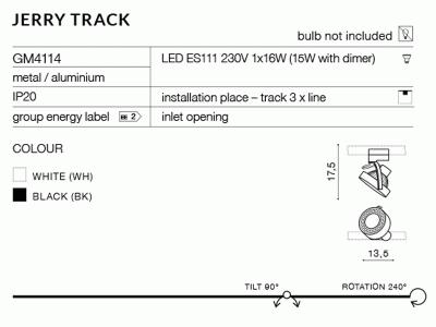Світильник трековий AZzardo JERRY TRACK AZ2458 (GM4114-BK)