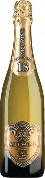 Вино ігристе Artwine біле напівсолодке 18 місяців 0.75 л 10-13.5% (4820176062857)