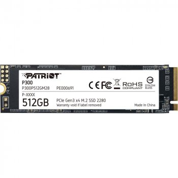 Patriot P300 M.2 2280 PCIe NVMe 3.0 x4 TLC (P300P512GM28)