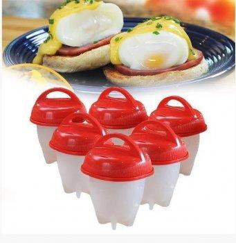 Силиконовые формочки Eggies Boil для варки яиц без скорлупы набор 6 штук