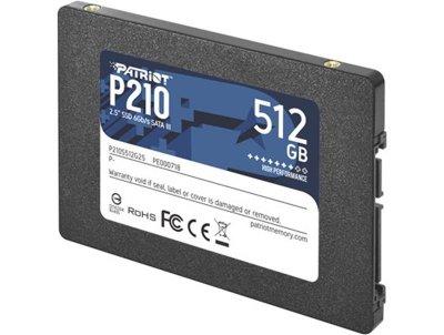 "Накопичувач SSD 512GB Patriot P210 2.5"" SATAIII TLC (P210S512G25)"