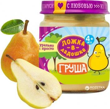 Упаковка фруктового пюре Ложка в ладошке Груша з 4 місяців 100 г х 6 шт. (4815396001267)
