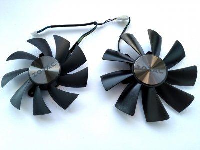 Вентилятор Apistek для видеокарты Zotac Mini GA92S2H GAA8S2U (FD9015U12S FD10015H12S) комплект 2 шт (№169)