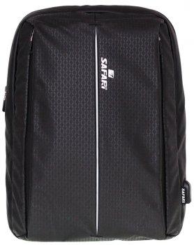 Рюкзак Safari Business 41 х 30 х 14 см 17 л Чорний (20-163L-1) (8591662201635)
