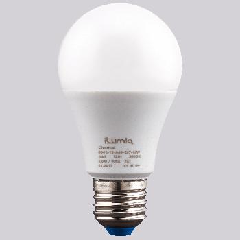 LED лампа Ilumia 12W Е27 A60 3000К теплий 1200Lm (004)