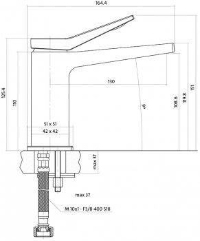 Змішувач для раковини CERSANIT Cromo S951-220