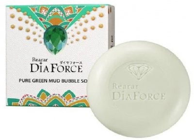 Мыло для лица Dia Force Rearar Pure Green Mud Bubble Soap с зеленой глиной 100 г (8809501400331)