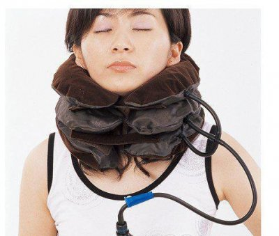 Ортопедический лечебный массажный воротник на шею Brown (gr_003296)