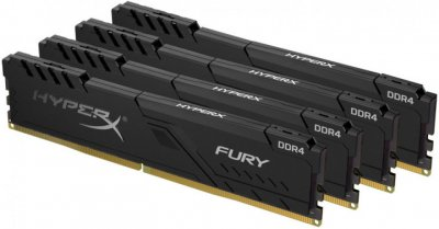 Оперативная память HyperX DDR4-3000 65536MB PC4-24000 (Kit of 4x16384) Fury Black (HX430C16FB4K4/64)