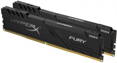 Оперативна пам'ять HyperX DDR4-3200 32768 MB PC4-25600 (Kit of 2x16384) Fury Black (HX432C16FB4K2/32)