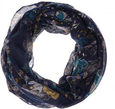 Шарф H&M 39041146 One Size Темно-синий в цветы (PS2030000004058)