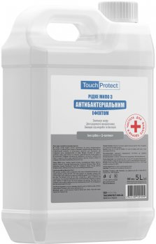 Жидкое мыло Touch Protect Ионы серебра-Д-пантенол с антибактериальным эффектом 5 л (4823109401594)
