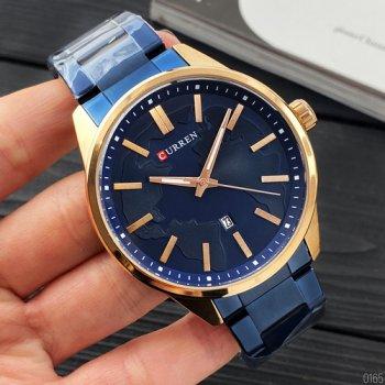 Наручний годинник AlexMosh чоловічі Curren Blue-Gold (1028)