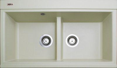 Гранітна мийка Nova Duos ivory