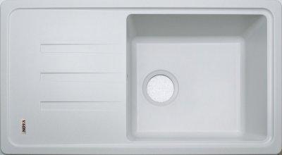 Гранітна мийка Nova Ego plus біла
