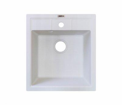 Гранітна мийка Nova Betta біла