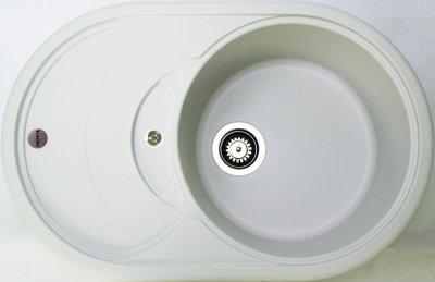 Гранітна мийка Nova Mario Plus біла