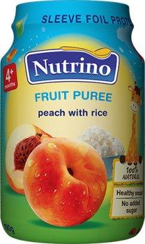 Упаковка фруктового пюре Nutrino з персиків і рису 190 г х 6 шт. (8606019657376)