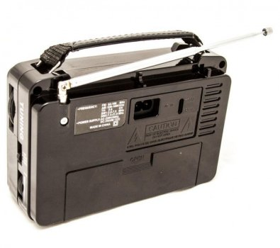 Всеволновой аккумуляторный портативный Радиоприёмник GOLON RX 608 FM AM радио колонка Brown (LP405)