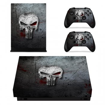 Вінілові наклейки на Xbox One X і Gamepad Punisher Custom Skin Playsole Vinyls (PV4022)