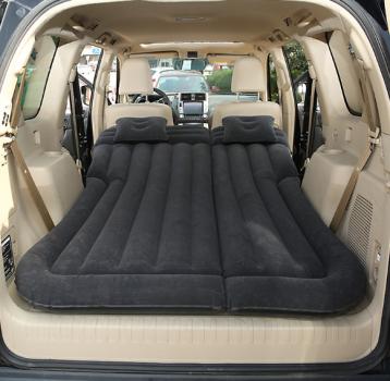 Універсальне ліжко матрац в автомобіль з насосом Чорний