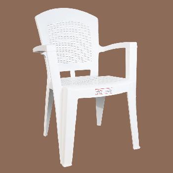 Кресло Irak Plastik Afrodit белое
