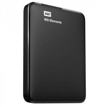 """Зовнішній жорсткий диск HDD 2.5"""" USB 3.0 500Gb WD Elements Portable Black (WDBUZG5000ABK-WESN)"""