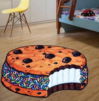 Килимок 3D антиковзаючий безворсовий килимок для будинку Кекс