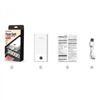 Внешний аккумулятор Power Bank Pineng PN-899 PD 30000 mAh White