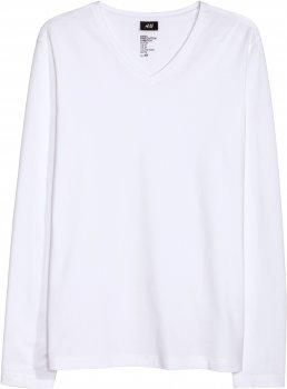 Лонгслів H&M 02336724 Білий