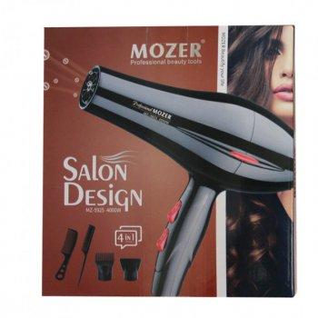 Фен Mozer MZ-5925 професійний для волосся 3000 Вт, 2 швидкості обдування і 2 температурами Чорний (11528)